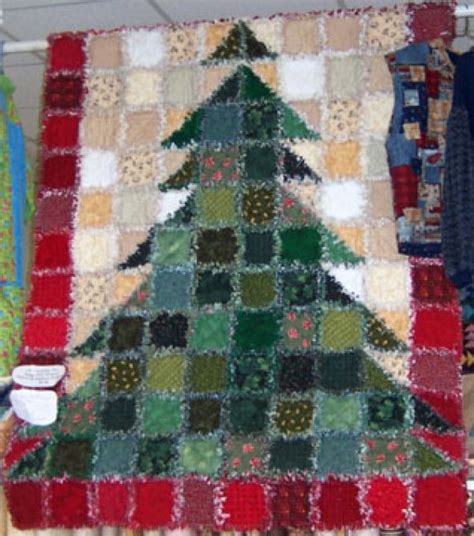 christmas tree rag quilt kit call for price