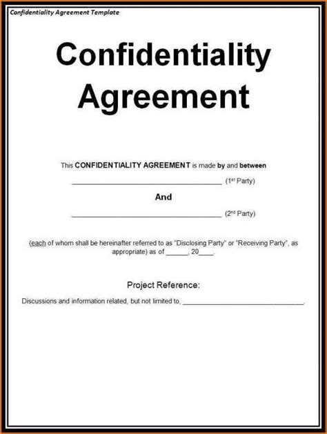 disclosure agreement sample template business