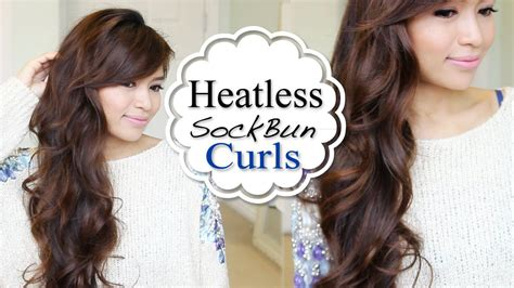 heatless hairstyles shoulder length hair overnight heatless curls hair tutorial sock bun method