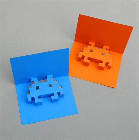 cool pop up card templates spaceships and spice make your own 8 bit pop up cards
