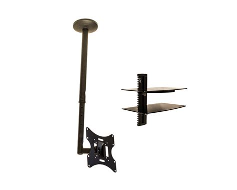 Ceiling Shelf Brackets by Ceiling Mount Bracket Black Tilt Swivel Lcd Tv Led Flat 21