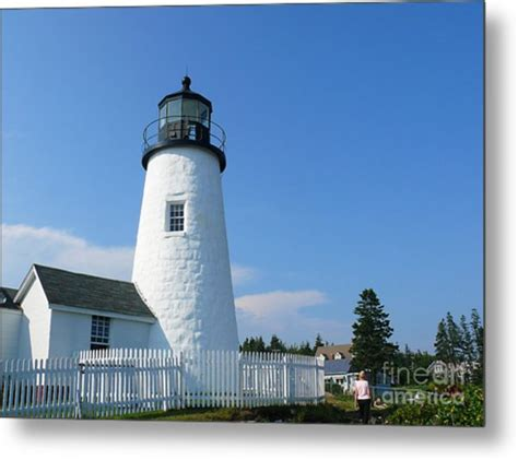 pemaquid point lighthouse home decor metal photo print pemaquid lighthouse photograph by jeanne woods