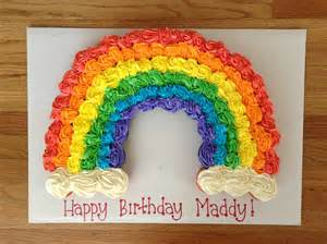 rainbow cupcake cake super cute for kids birthday party babies pinterest rainbow cupcakes