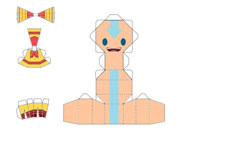 Avatar Papercraft - aang the avatar chibi papercraft by thestickfigureking on