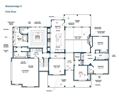 floor plan of the floor of the breckenridge by