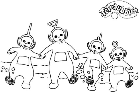 teletubbies coloring pages to print coloring home