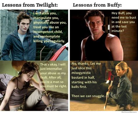 lessons from my books lessons from twilight vs lessons from buffy weknowmemes
