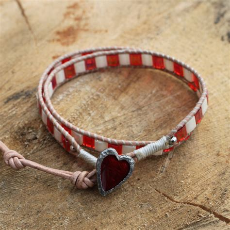 valentines bracelets wrap bracelet with a button