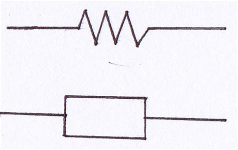 symbol of a fixed resistor electronic components