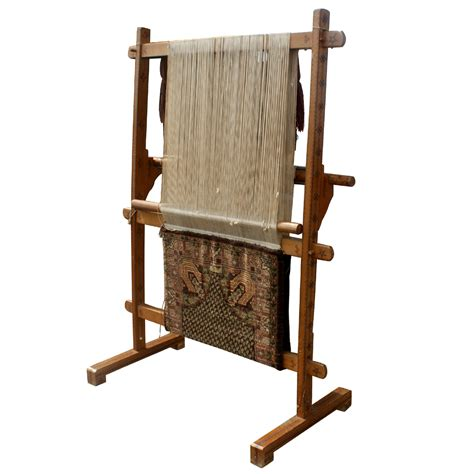 rug weaving loom antique vertical weaving loom with rug ebay