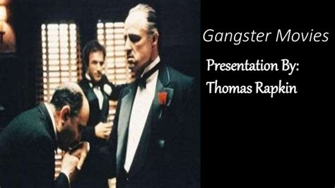film gangster genre film genre project