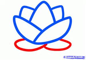 Step By Step Lotus Flower Drawing How To Draw A Lotus For Step By Step Flowers For