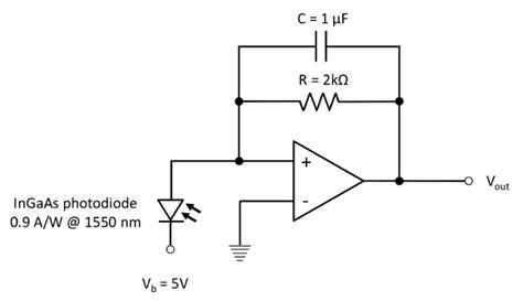 photodiode op trans impedance lifier circuit for each photodiode the ingaas