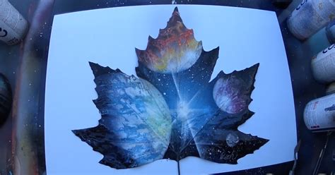 spray paint on leaf spray painting planets on a leaf bored panda