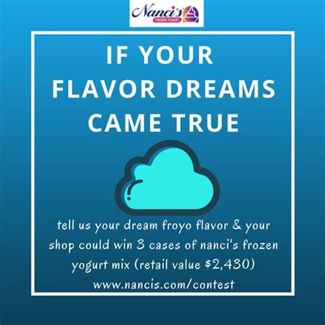 nanci s frozen yogurt ifya launch the quot if your flavor
