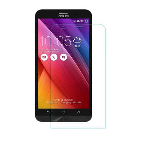 Asus Zenfone 2 5 5 Tempered Glass B Top Clear asus zenfone 2 5 5 nillkin h tempered glass screen protector سایمان دیجیتال