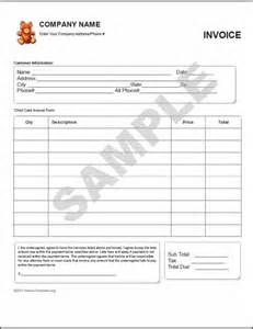 babysitting invoice template 28 child care invoice template daycare invoice template