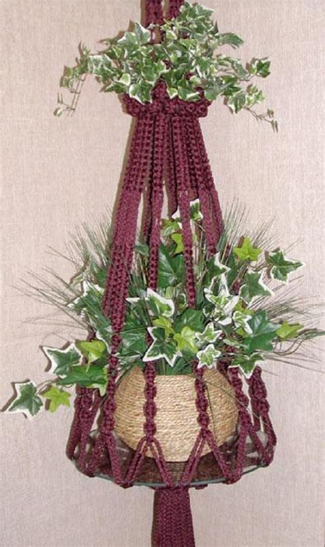 Macrame Patterns Plant Hangers - top 10 fancy ideas for macrame hanging planter top inspired