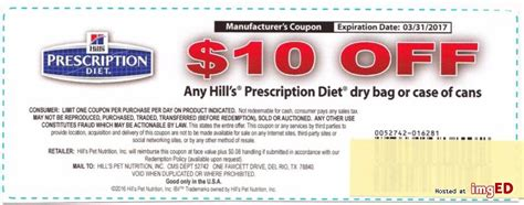 hills dog food printable coupons hills prescription diet coupon 10 off dog cat food exp 3