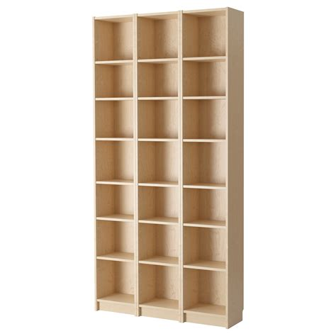 billy bookcase birch veneer 120x237x28 cm ikea