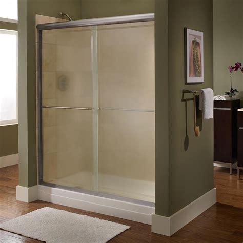 American Standard Euro 48 In X 70 In Semi Framed Bypass Shower Bypass Doors