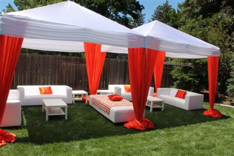 college backyard ideas backyard graduation party orange black graduation