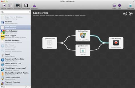 alfred app workflows up and running with the alfred powerpack workflows