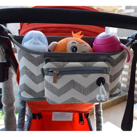 Kereta Dorong Bayi Merk Or tas perlengkapan stroller kereta dorong bayi gray white