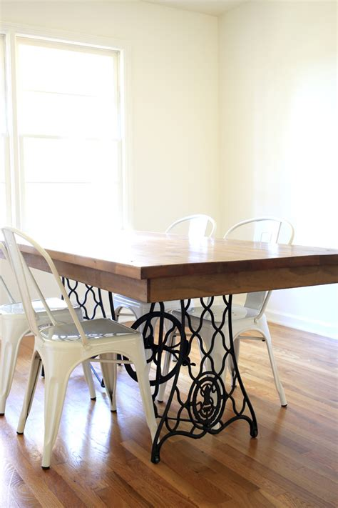 diy dining room table legs our diy dining table from an sewing machine all sorts of pretty