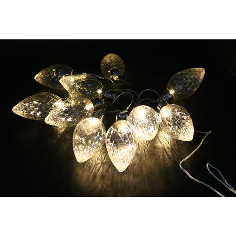 decorative lights for home alpine 10 light led light bulbs faceted clear decorative