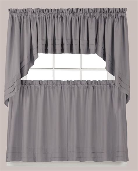 curtain tiers holden kitchen curtain gray tiers swags valances