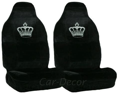 2004 crown seat covers rhinestone princess crown car seat covers 2 pc cars