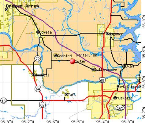 porter oklahoma ok 74454 profile population maps