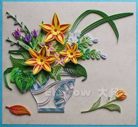 quilling vase tutorial quilled flowers by elarrow квиллинг pinterest flower
