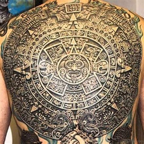 aztec calendar tattoos 53 fancy aztec tattoos