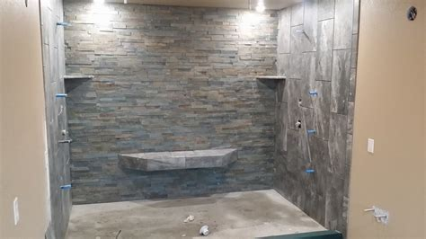 Slate Tile Shower by A Roofing And Construction