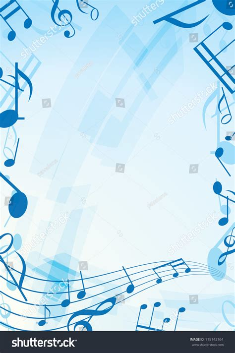 free light background music abstract light blue music background frame stock