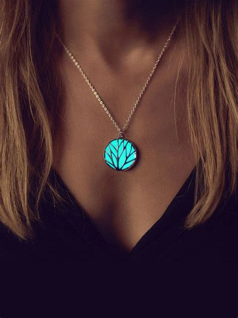 Glowing Necklace glowing necklace turquoise necklace best