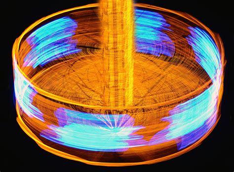 spinning light wheel photograph by david thompson
