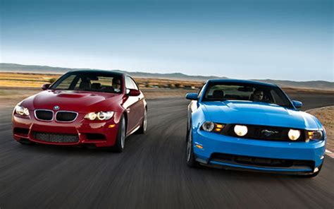 Mustang Vs Bmw by Shelby Mustang Vs Bmw M3 Autos Post