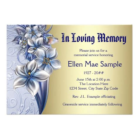 free funeral announcement templates 1 000 memorial service invitations memorial service
