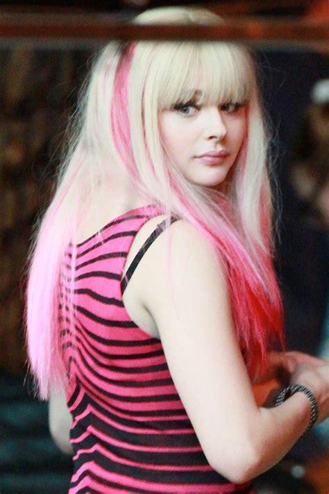 chloe moretz with bangs chloe moretz hair steal her style