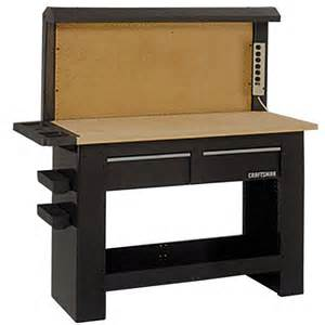 work bench with drawers craftsman workbench backwall tools garage organization