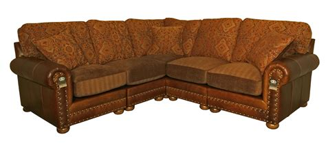 leather and fabric combination sofas