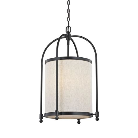 Linen Pendant Light Fifth And Lighting 5 Light Rubbed Bronze Cylinder Pendant With Beige Linen Shade Hd