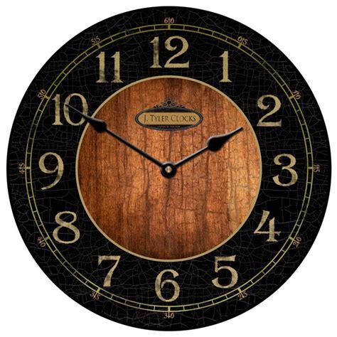 large wall clock black wood clock 12 quot 48 quot whisper non ticking ebay