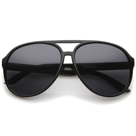 Retro Polarized Sunglasses retro large protective polarized lens aviator sunglasses
