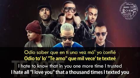 boten in english te bote remix lyrics english spanish youtube