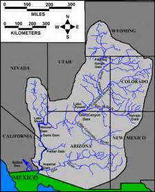 where is the colorado river located on a map drought in the colorado river basin shrinkage of lake powell