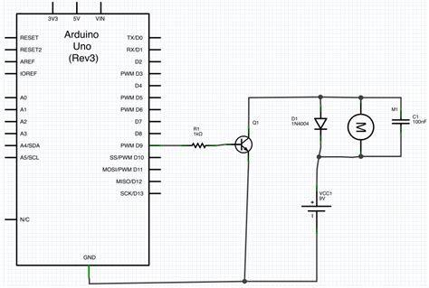 diode electric circuit arduino purpose of the diode and capacitor in this motor circuit electrical engineering